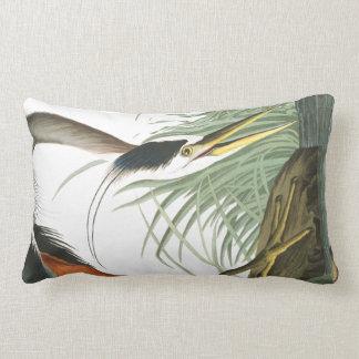 Audubon Heron Bird Wildlife Lumbar Pillow