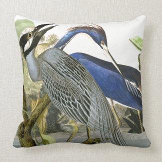 Audubon Heron Birds Collage Wildlife Throw Pillow