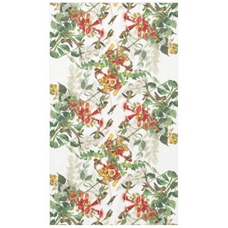 Audubon Hummingbird Birds Animal Floral Tablecloth