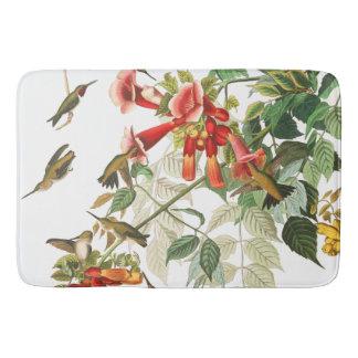 Audubon Hummingbird Birds Wildlife Floral Bath Mat Bath Mats