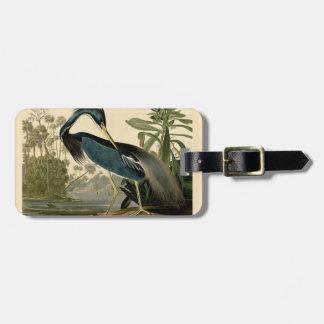 Audubon Louisiana Heron Luggage Tag