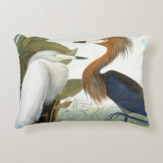 Audubon: Reddish Egret Or Purple Heron Decorative Cushion