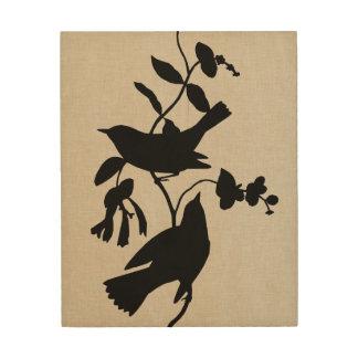 Audubon Silhouette IV Wood Wall Art