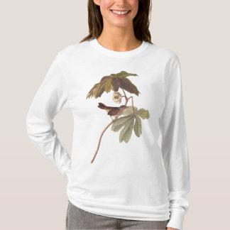 Audubon Swamp Sparrow Bird on Wild Mandrake T-Shirt