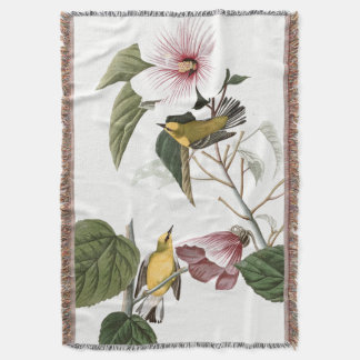 Audubon Warbler Bird Wildlife Animal Throw Blanket