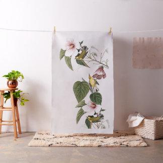 Audubon Warbler Birds Wildlife Floral Fabric