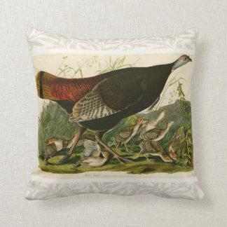 Audubon Wild Turkey Vintage Birds of America Cushion