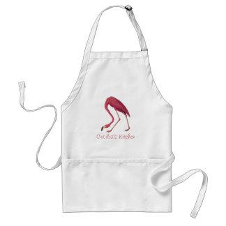 Audubon's American Pink Flamingo Vintage Art Standard Apron