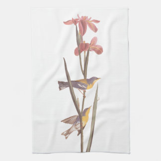 Audubon's Blue Yellow-Back Warbler Tea Towel
