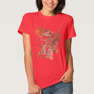 Audubon's Ruby Throated Hummingbird and Flowers Shirts