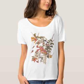 Audubon's Ruby Throated Hummingbird and Flowers T-Shirt