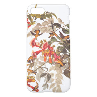 Audubon's Ruby Throated Hummingbirds and Flowers iPhone 7 Case
