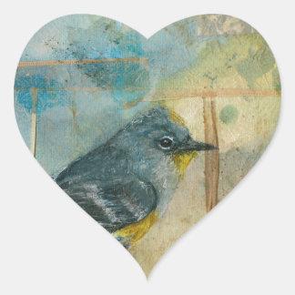 Audubon's Warbler Heart Stickers