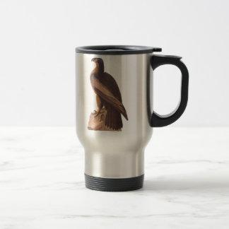 Audubon's Young Bald Eagle on Brown Rock Travel Mug