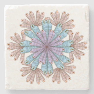 Auger Seashell Pattern Tropical Home Coaster Stone Coaster