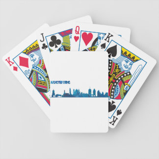 Augsburg Skyline Silhouette Bicycle Playing Cards