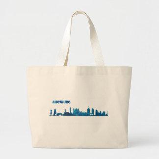 Augsburg Skyline Silhouette Large Tote Bag