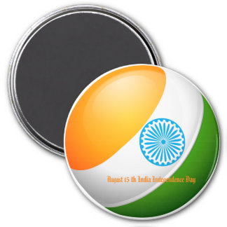 August 15 India Independence Day Magnet