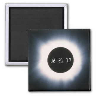 August 2017 Total Solar Eclipse in Black and White Magnet