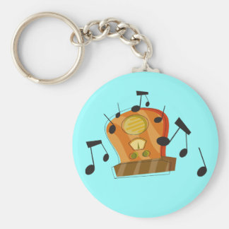 August 20th, National Radio Day Basic Round Button Key Ring