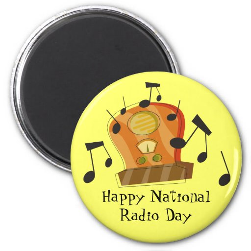August 20th, National Radio Day Fridge Magnets