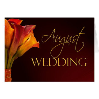 August calla lily wedding card