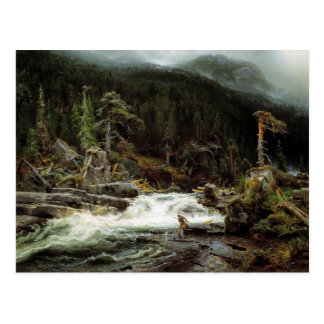 August Cappelen Waterfall in Telemark Postcard