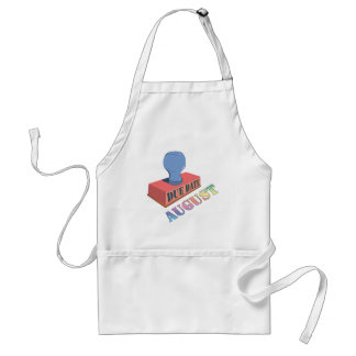 August Due Date Stamp Apron