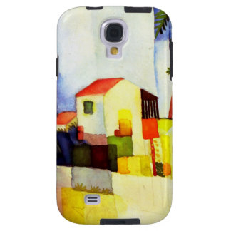 August Macke Bright House Watercolor Painting Galaxy S4 Case