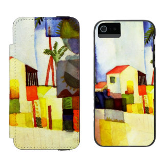 August Macke Bright House Watercolor Painting Incipio Watson™ iPhone 5 Wallet Case