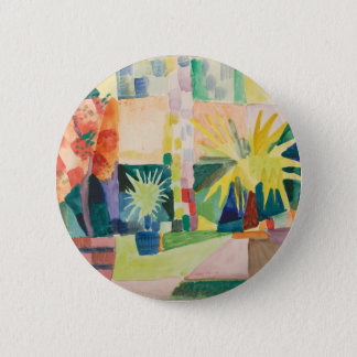 August Macke - Garden on Lake Thun 6 Cm Round Badge