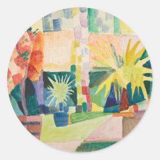 August Macke - Garden on Lake Thun Classic Round Sticker
