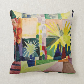August Macke: Garden on Lake Thun Cushion