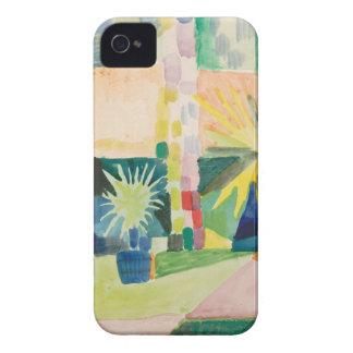 August Macke - Garden on Lake Thun iPhone 4 Case-Mate Cases