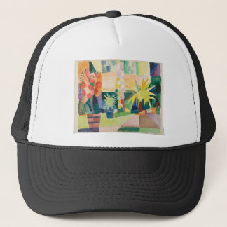August Macke - Garden on Lake Thun Trucker Hat