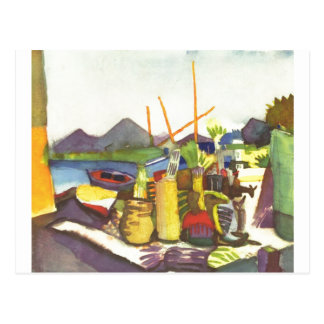August Macke - Landscape with Hammamet  1914 Postcard