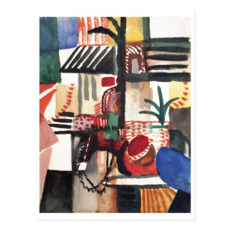 August_Macke - Man with Donkey 1914 Watercolor Postcards