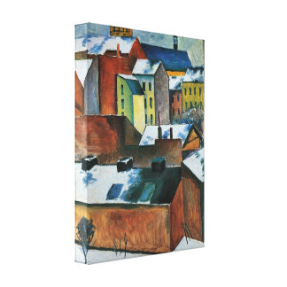 August Macke - St Marys Church in the snow Stretched Canvas Print