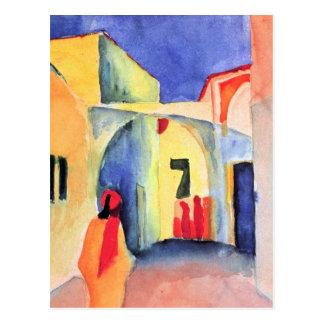 August Macke - View into a Lane Postcard