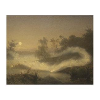 August Malmstrom - Dancing Fairies Wood Print
