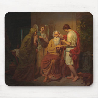 August Malmstrom - Tobias healing his blind father Mouse Pad