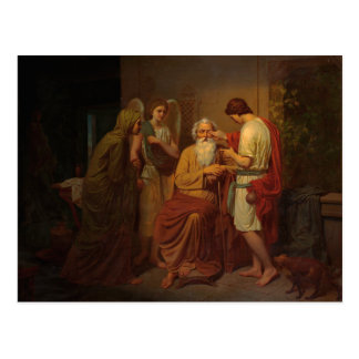 August Malmstrom - Tobias healing his blind father Postcard