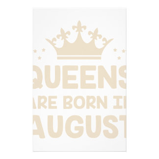 August Queen Stationery