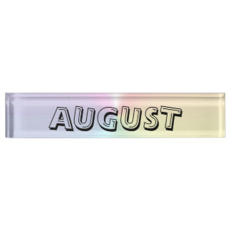August Shimmer Desk Namplate by Janz Name Plate