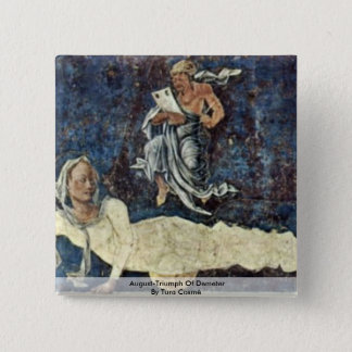 August-Triumph Of Demeter  By Tura Cosmè 15 Cm Square Badge