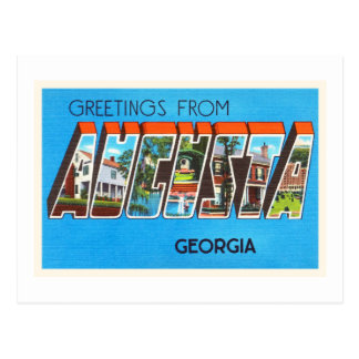 Augusta Georgia GA Old Vintage Travel Postcard- Postcard
