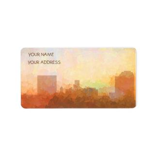 AUGUSTA, GEORGIA SKYLINE - Clouds-Business Cards Address Label