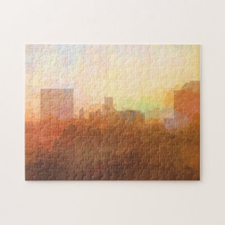 AUGUSTA, GEORGIA SKYLINE In the Clouds-Puzzle Jigsaw Puzzle