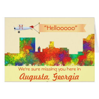 Augusta Georgia Skyline-SG Card