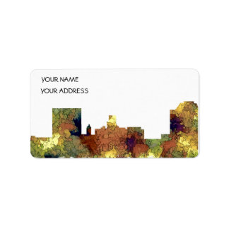 Augusta Georgia Skyline. SG-Safari Buff Address Label